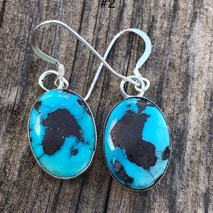 Jewelry - Golden Hills Turquoise Sterling Dangle Earrings